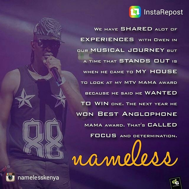 Nameless Showed Support