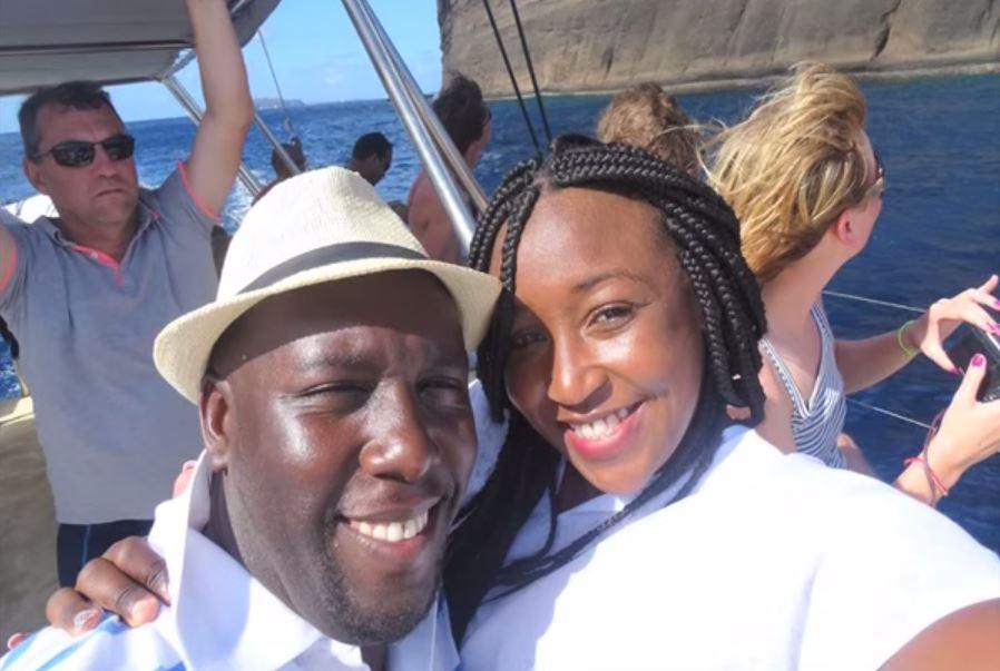 Dennis Okari and Betty Kyalo on a vacation