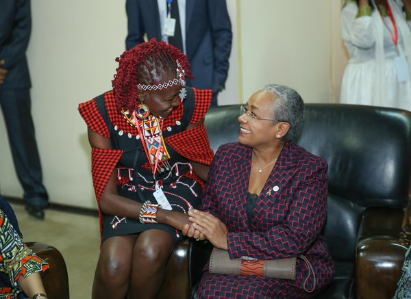 Dr. Josephine Kulea with The First Lady of Kenya Margaret Kenyatta
