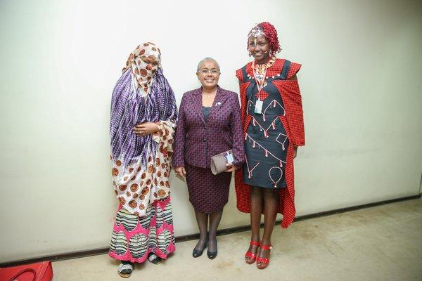 Dr. Josephine Kulea with Margaret Kenyatta