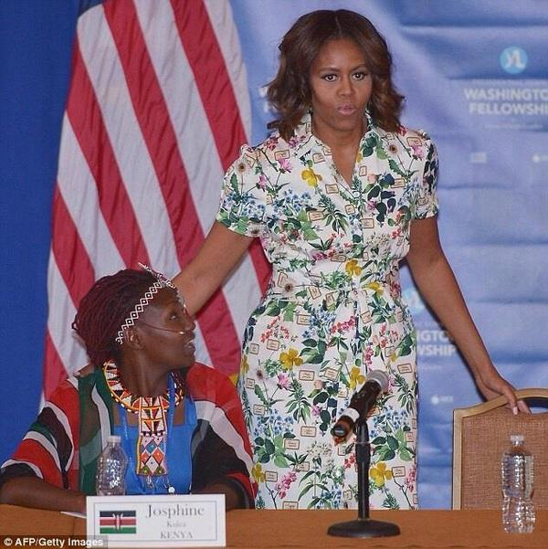 Dr. Josephine with Michelle Obama