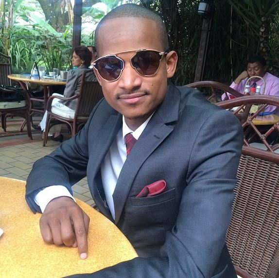 Babu Owino on table