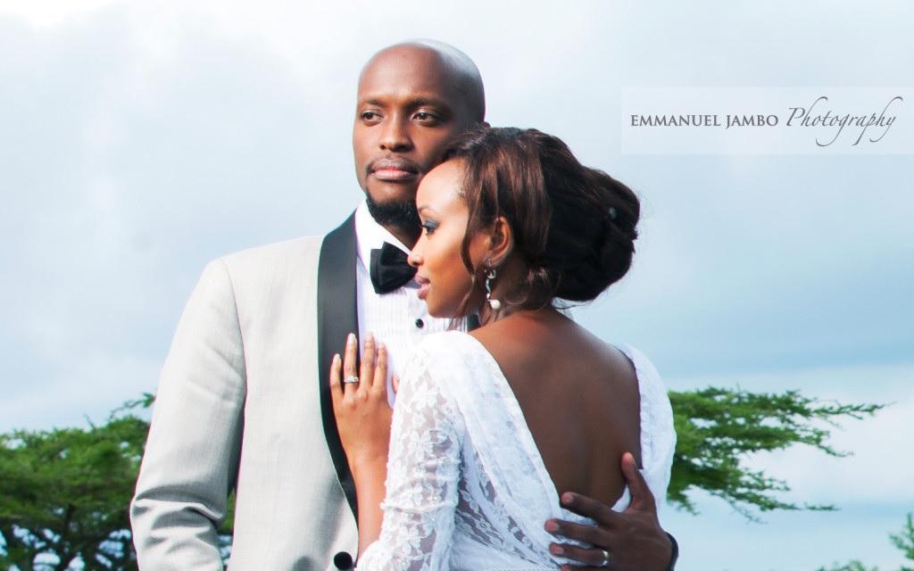 Janet Mbugua with Eddie Ndichu