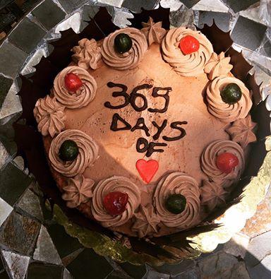 Janet Mbugua's anniversary cake
