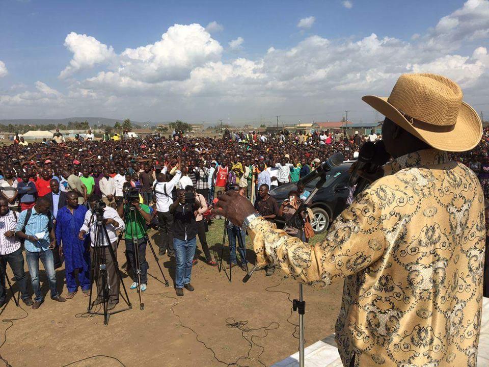 Raila Odinga in Nakuru