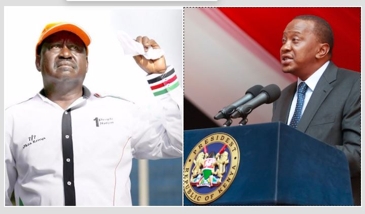"""Résultat de recherche d'images pour """"elections, presidential, odinga, uhuru,"""""""
