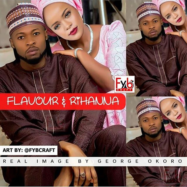 a depiction done by FyB Craft of Flavour and Rihanna as husband and wife |FyB Craft