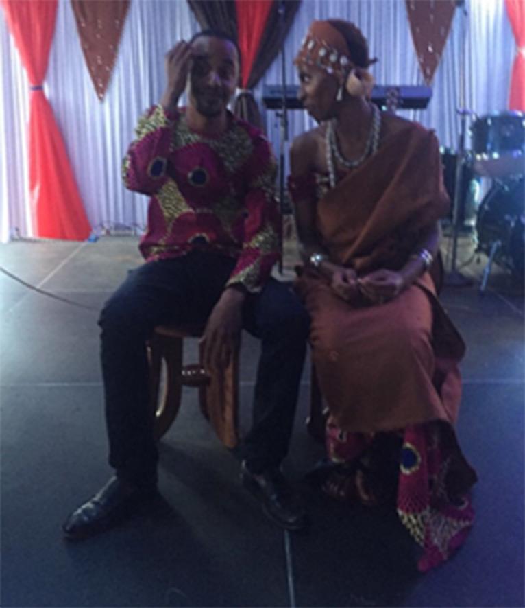 Jomo Kenyatta Junior and Fiona Achola | courtesy