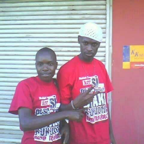 King Kaka(right) with a friend back in the hustlin days | Instagram