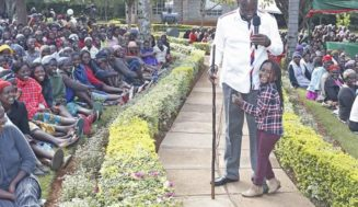 DP Ruto and his child Abby Ruto Cherop spending time together