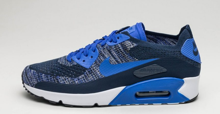 75782330d24343 nike-air-max-90-ultra-2.0-flyknit- college-navy-paramount-blue-white ...