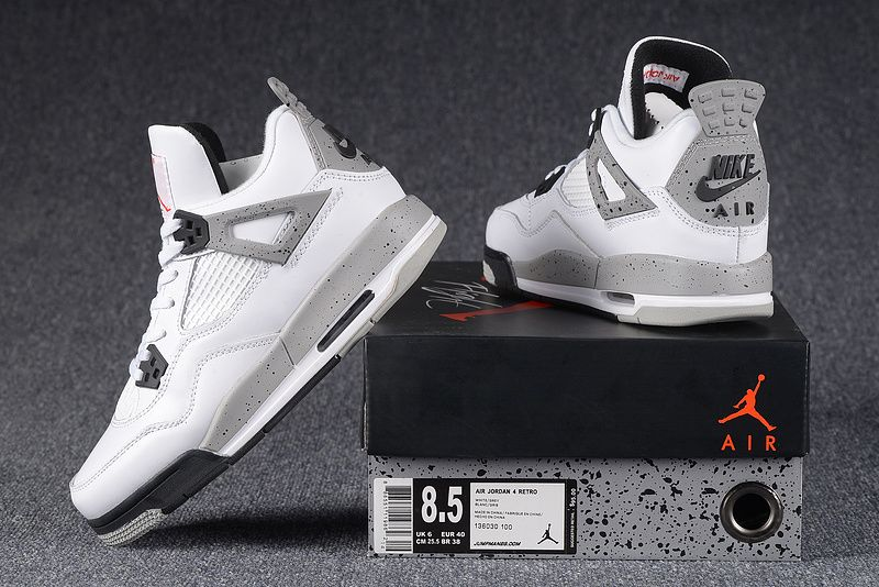 restock 2016 air jordan 4 og white cement 5