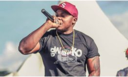 Khaligraph shows off stacks of cash he keeps at his studio