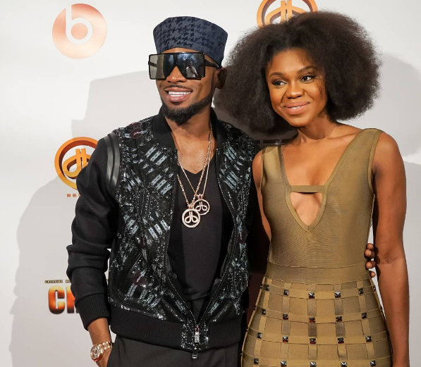 Becca with D'Banj