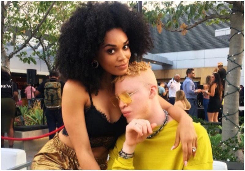 Shaun Ross posing with Pearl Thusi