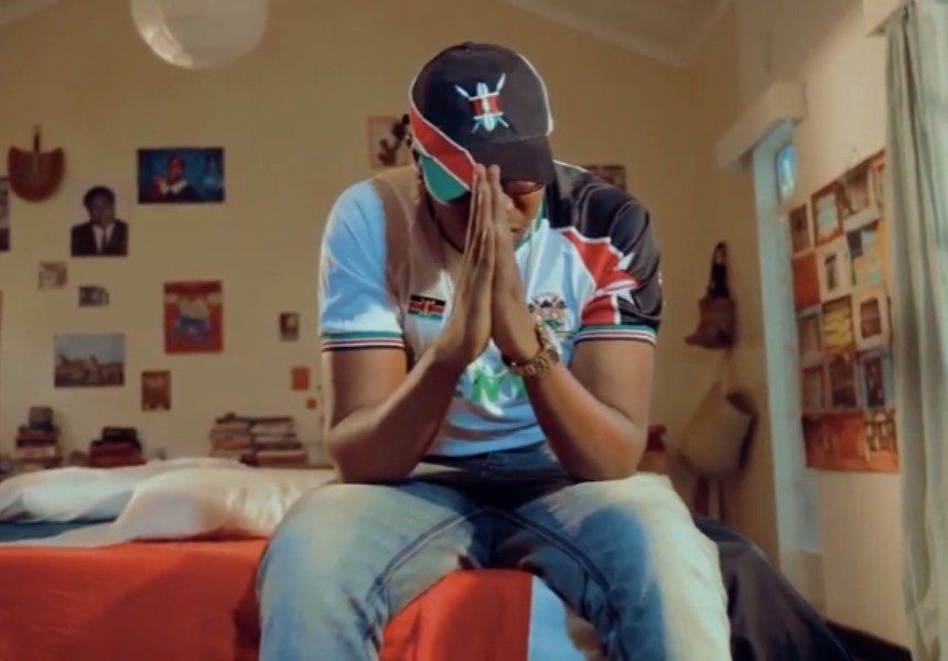 Kayvo Kforce all Kenyan attire praying hands