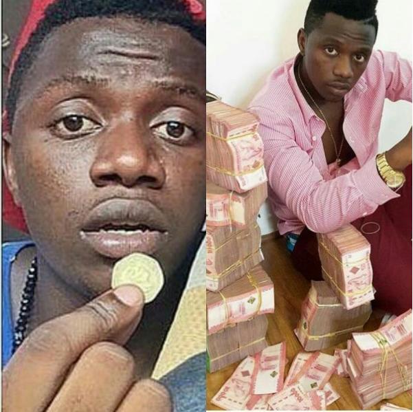 Rayvanny photo with money