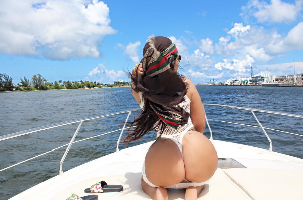 Vera Sidika on a yacht