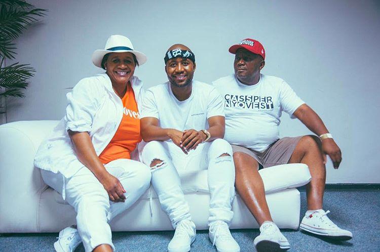 From L-R: Muzuki Phoolo(mother), Refiloe Maele Phoolo(Cassper Nyovest) and Letsebela Phoolo(father)