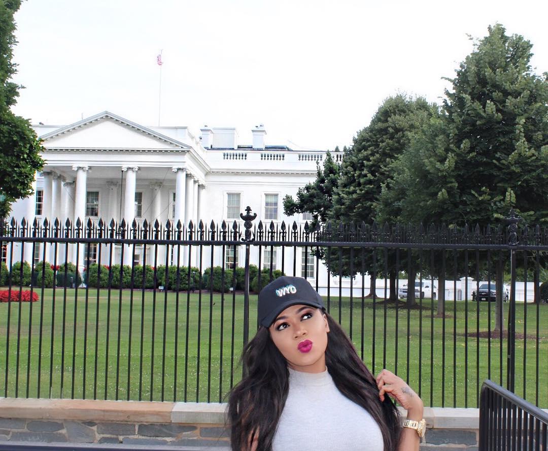 Vera Sidika At the White House in Washington DC
