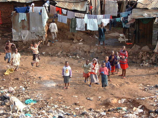 Children playing the slums. Photo courtesy