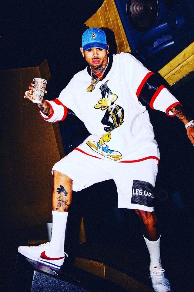 Chris Brown rocking Nike Cortez. Photo credit: courtesy