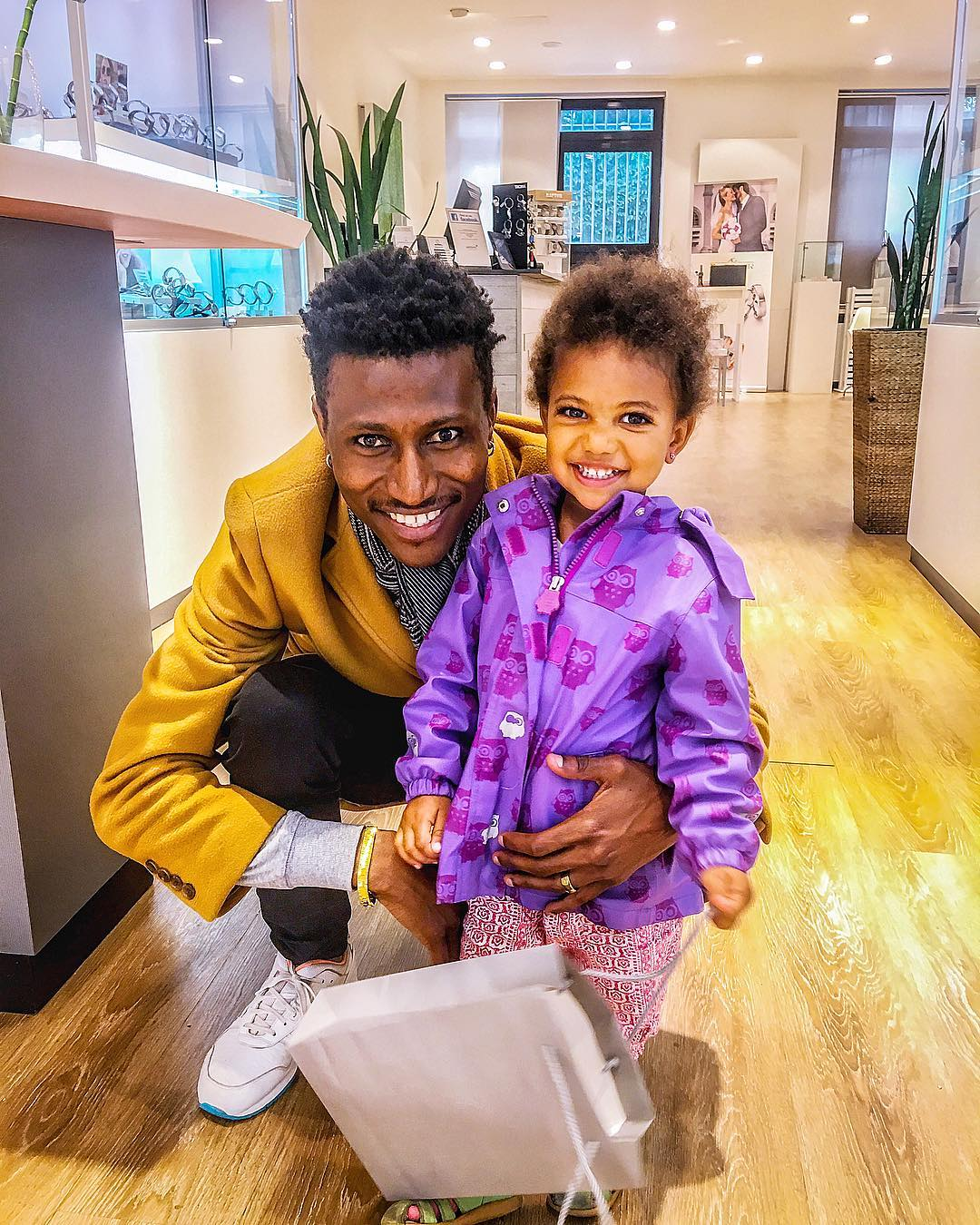 Octopizzo with his daughter Akinyi. Photo credit: Instagram/Octopizzo