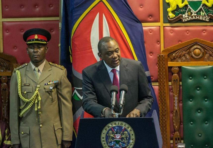 president uhuru kenyatta addressing the legislators in parliament