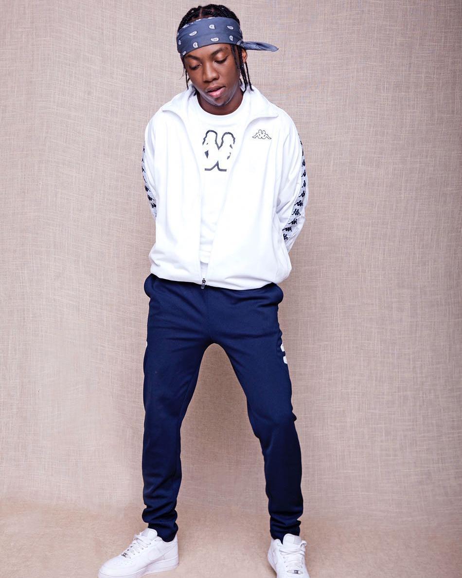 Frank Casino rocking Kappa t-shirt and training pants with a Kappa banda top. photo credit: Instagram/frankcasino
