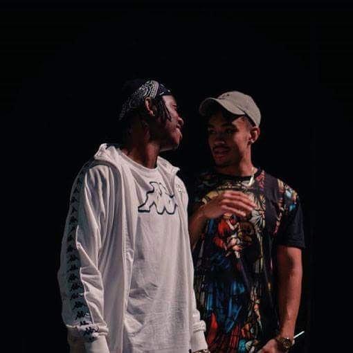 Frank Casino wearing Kappa t-shirt with Kappa Banda chatting with Shane Eagle
