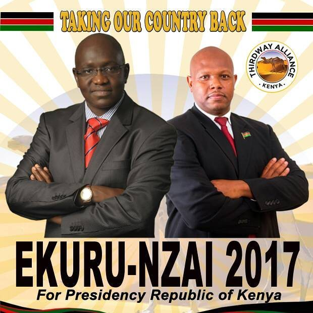 Ekuru Aokot,and Emmanuel Nzai on campaign poster
