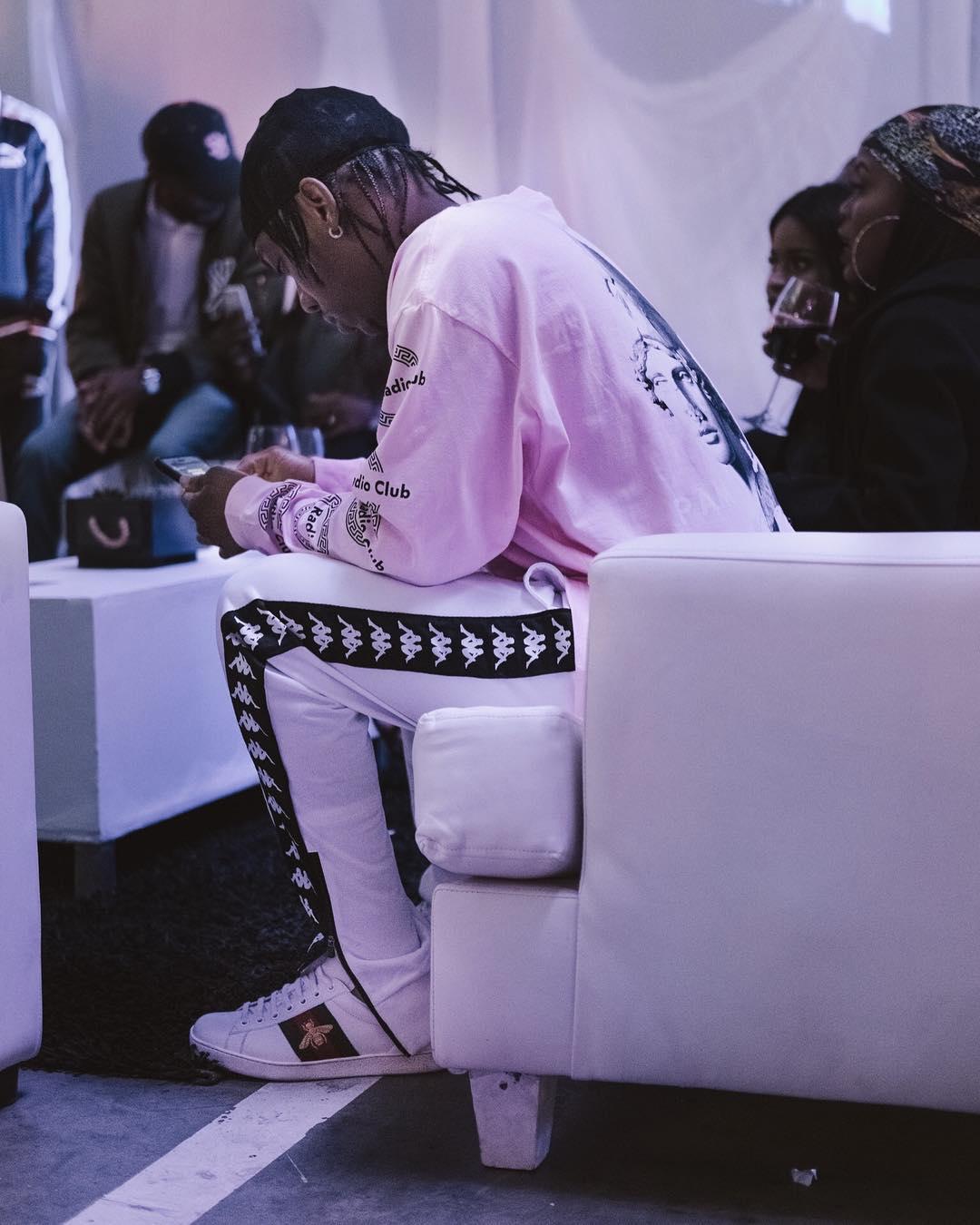 Frank Casino rocking Kappa training pants. photo credit: Instagram/kappa_southafrica