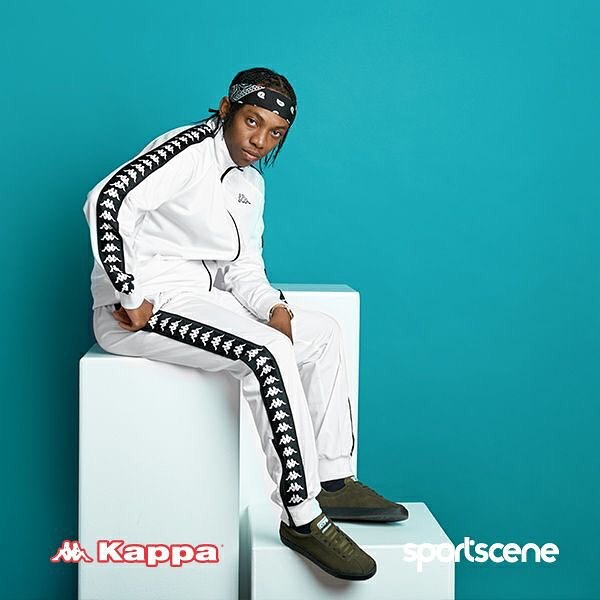 Frank Casino rocking white Kappa Banda. photo credit: Instagram/kappa_southafrica