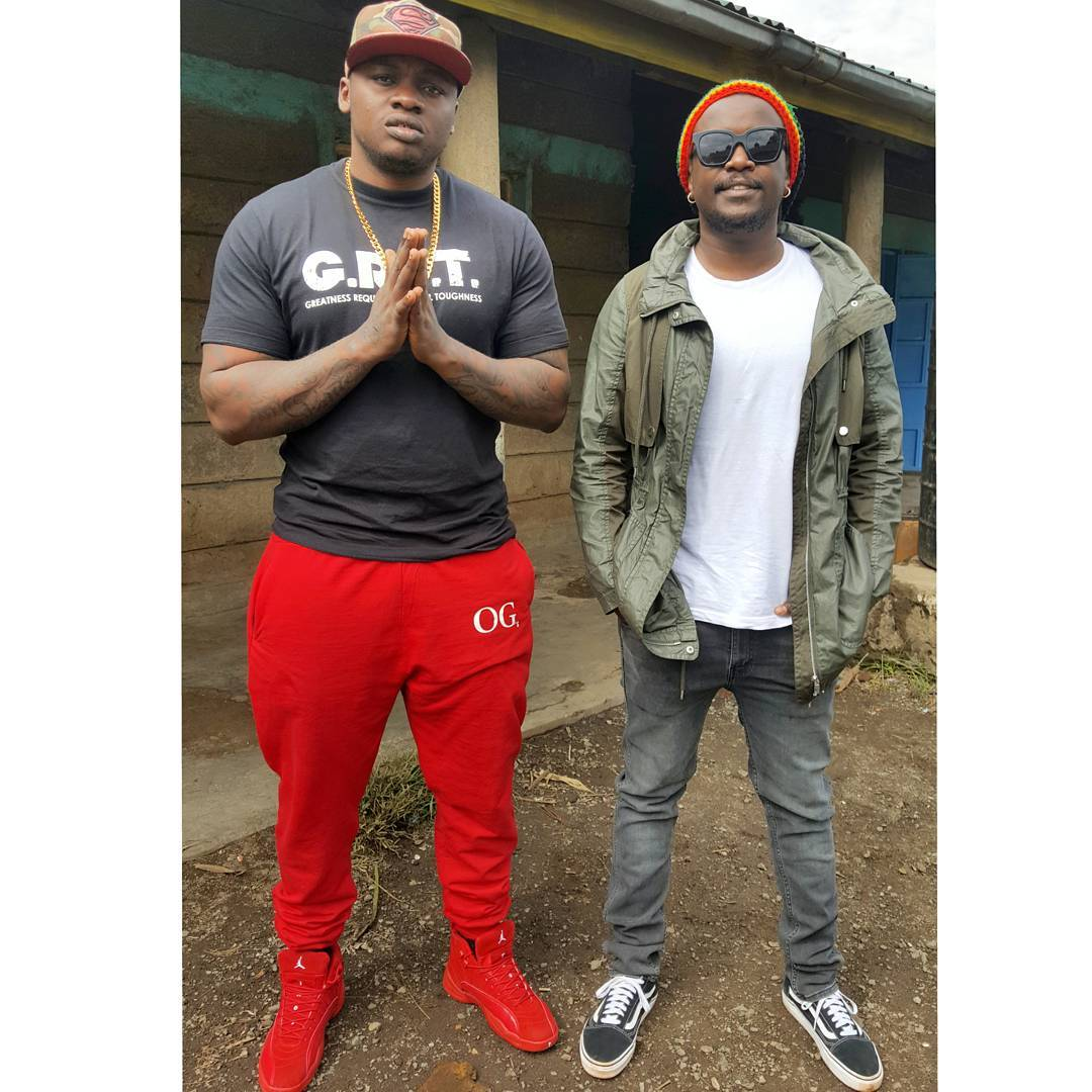 Nyashinski and Khaligraph Jones. photo credit: Instagram/khaligraph_jones