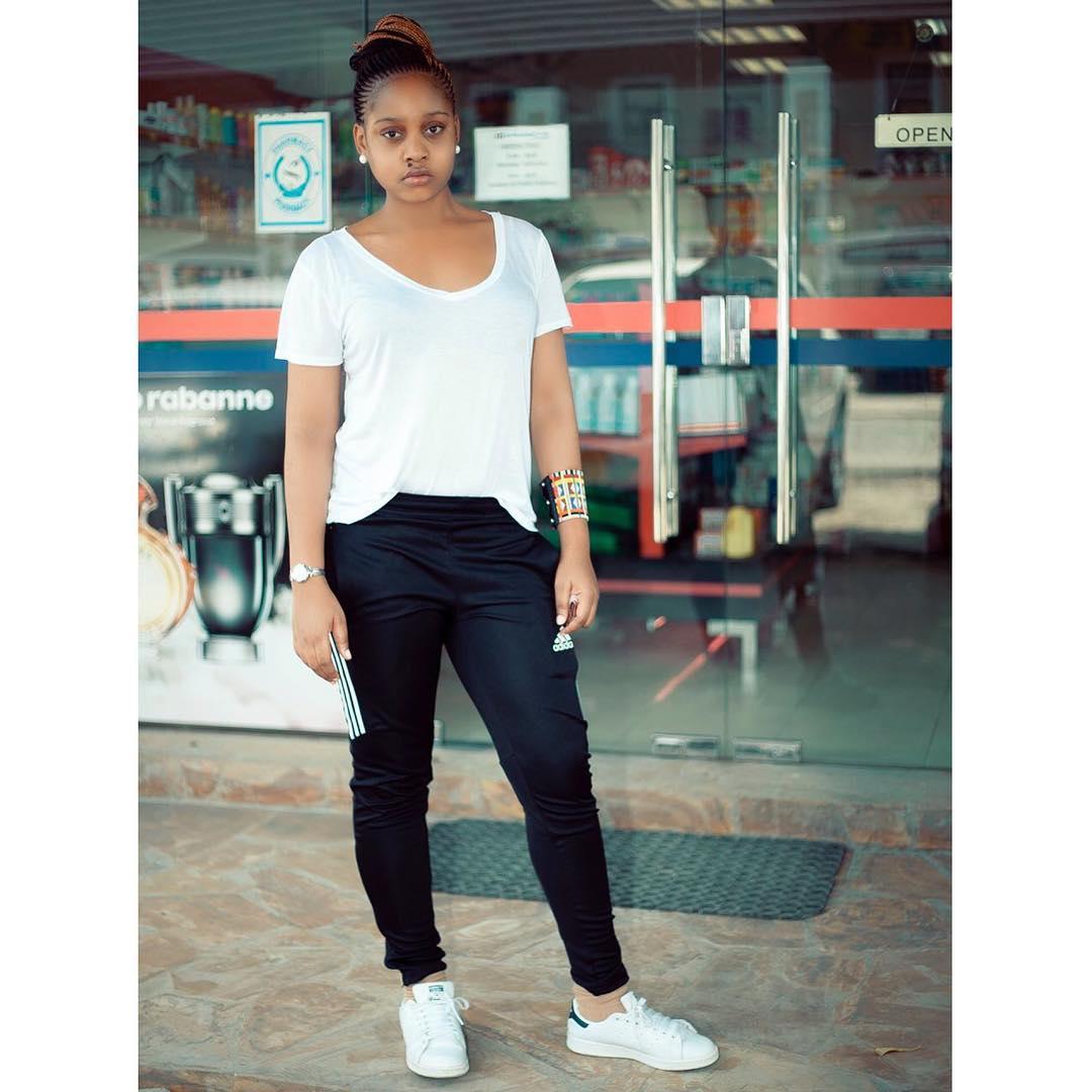 Jokate Mwegelo rocking white Stan Smith sneakers. photo credit: Instagram/jokatemwegelo