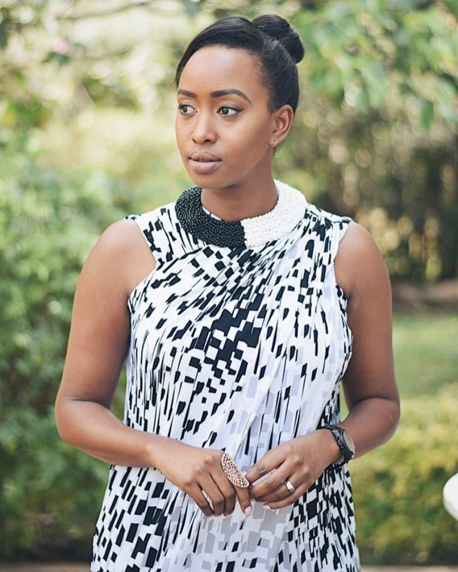 Janet Mbugua posing