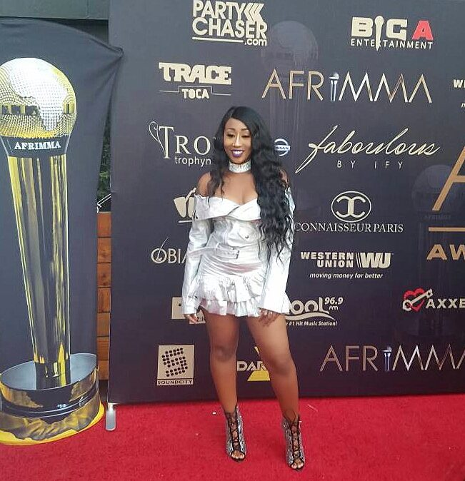 Victoria Kimani at the Afrimma awards show