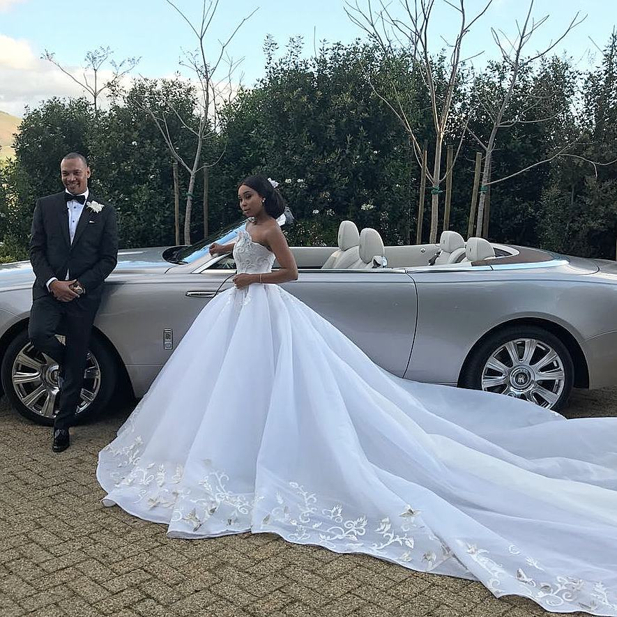 Minnie Dlamini with her husband Quinton Jones. photo credit: Instagram/minniedlamini
