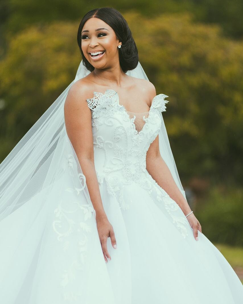 Minnie Dlamini Looked Liked A Princess On Her Wedding Day