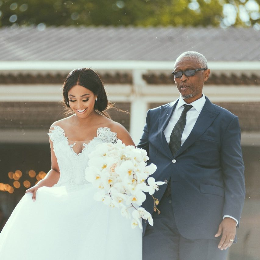 Minnie Dlamini with her father, Jabulani Dlamini. photo credit: Instagram/minniedlamini