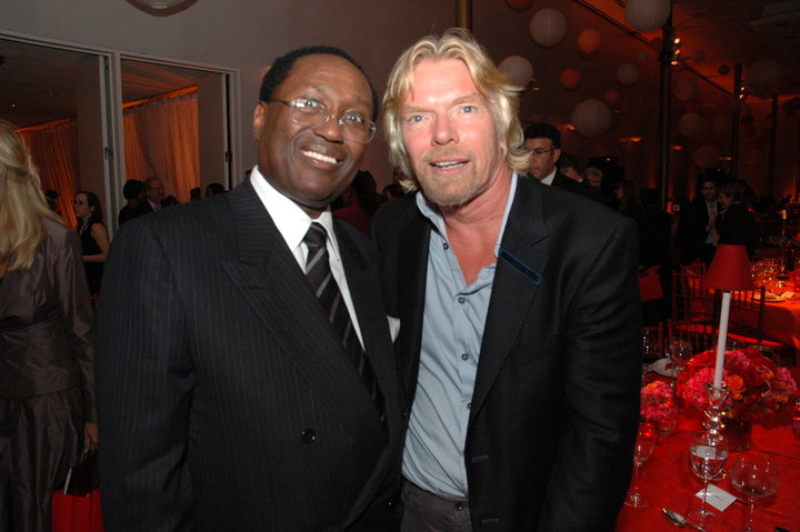 Chris Kirubi with Richard Charles Nicholas Branson on a past event. photo credit courtesy
