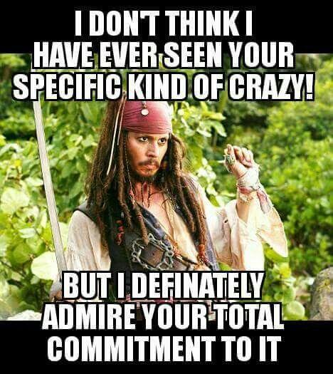 Jack sparrow being crazy