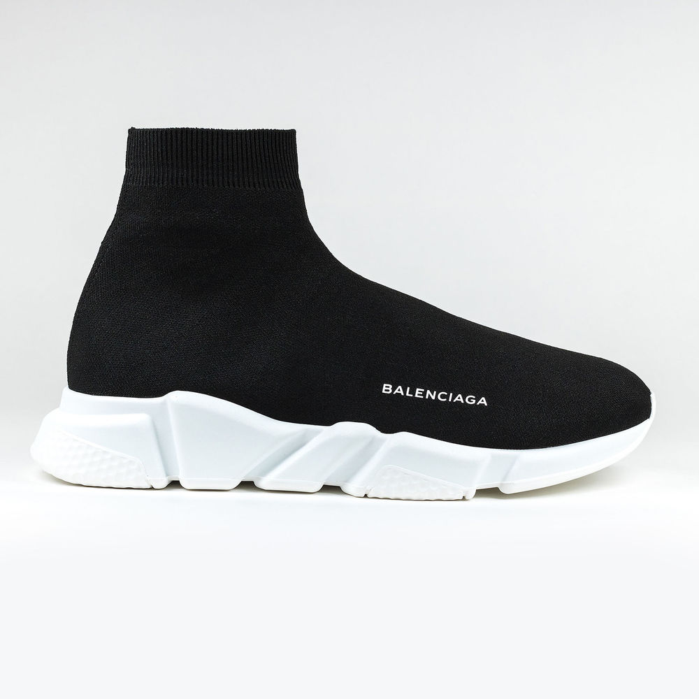 Unisex Balenciaga Knit Speed Sock Black Trainer Sneaker Runner. photo credit: courtesy
