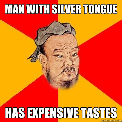 silver tongue with chinese
