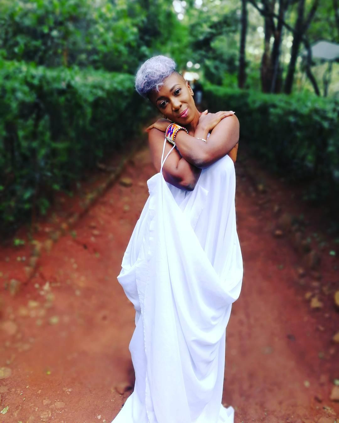 Wahu in white dress