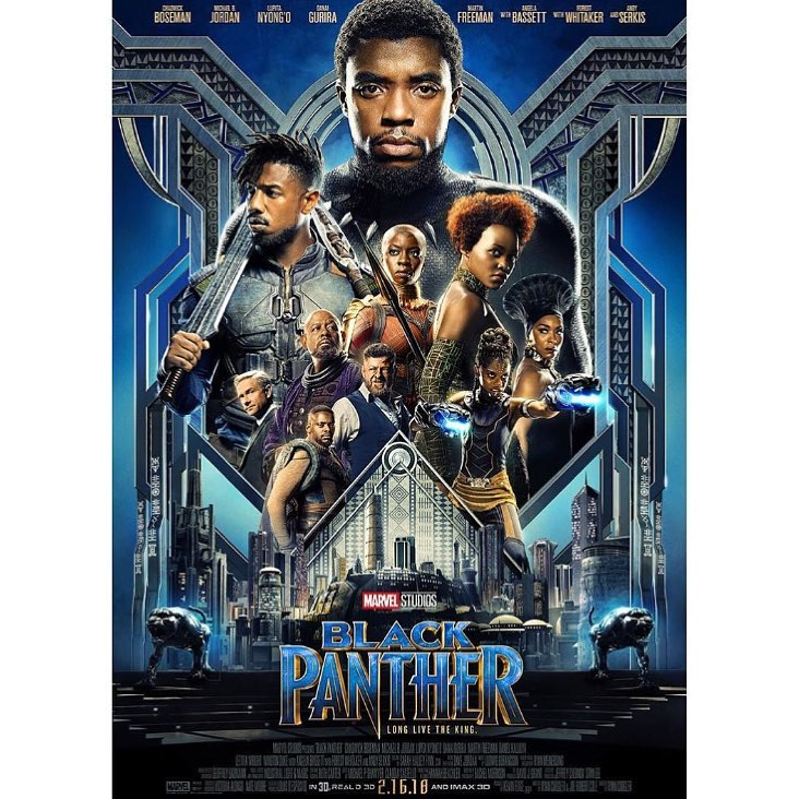 Black Panther official poster. photo credit: Instagram/lupitanyongo