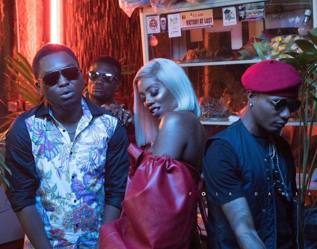 Spellz, Tiwa Savage and Wizkid
