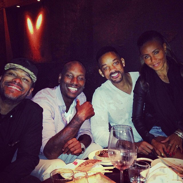 Will Smith and Jada Pinkett Smith with Tyrese Gibson. photo credit: Instagram/tyresegibson
