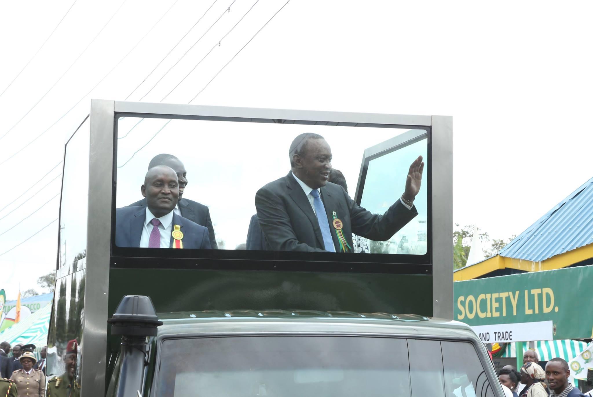 President Uhuru Kenyatta with the late governot Wahome Gakuru. photo credit: Facebook/Uhuru Kenyatta