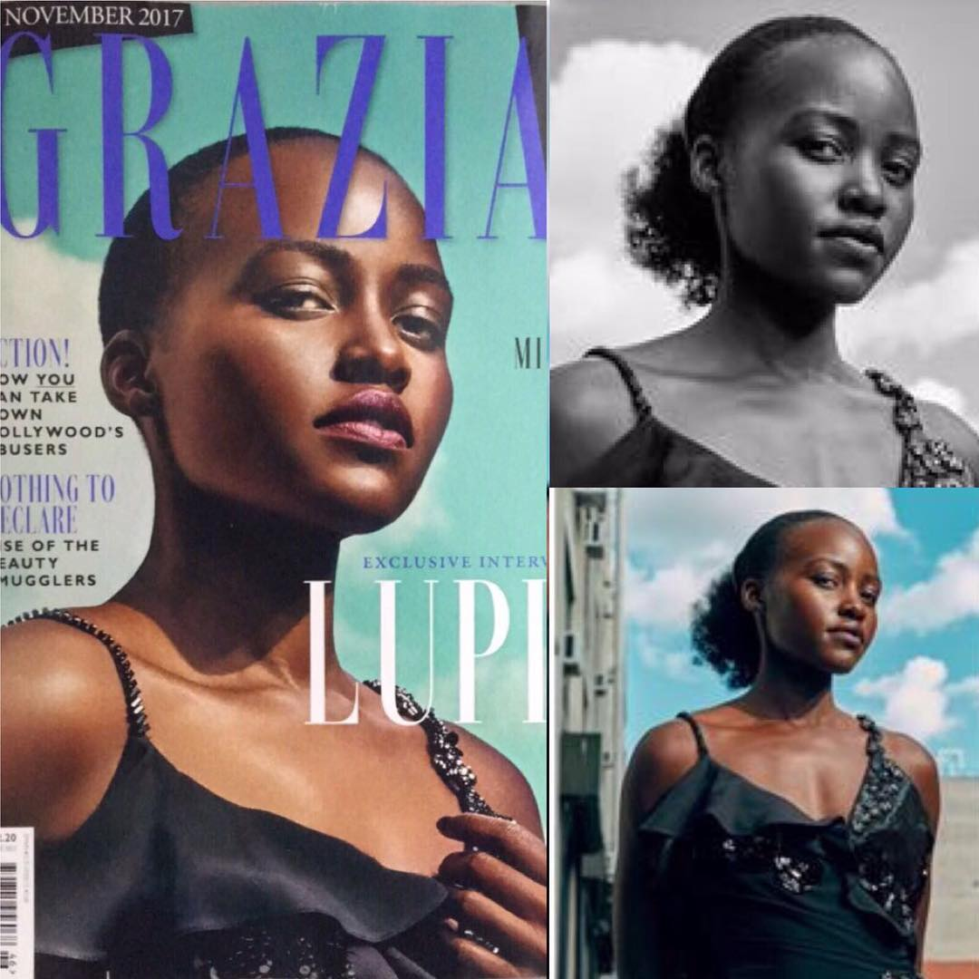 Lupita Nyong'o's complaining about Grazia magazine changing her look to be more European. photo credit: Instagram.lupita nyongo